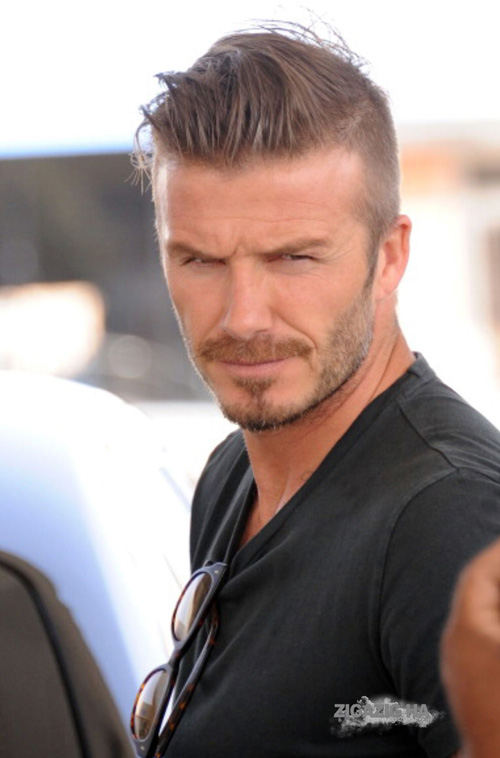 David Beckham short haircut pictures