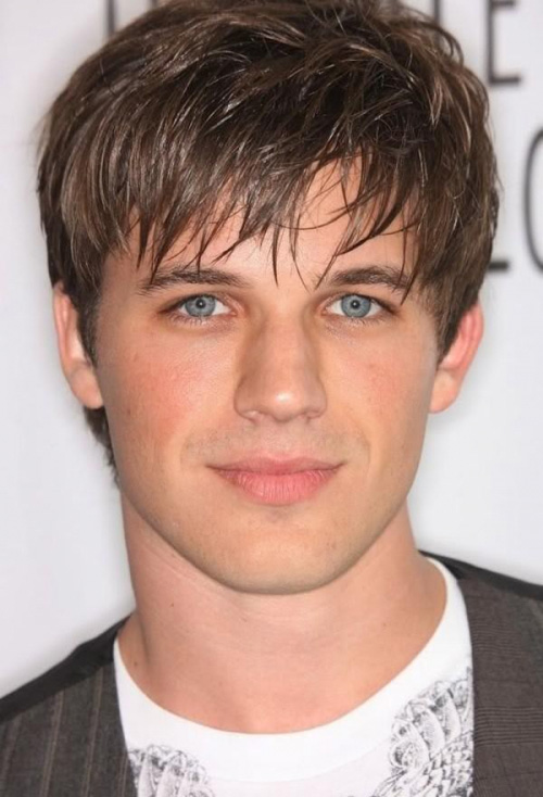 Mens Modern Short Haircut With Bangs