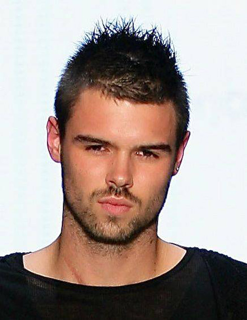 Men short spiky hairstyles 2012