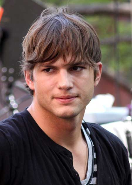 Ashton Kutcher haircut 2013