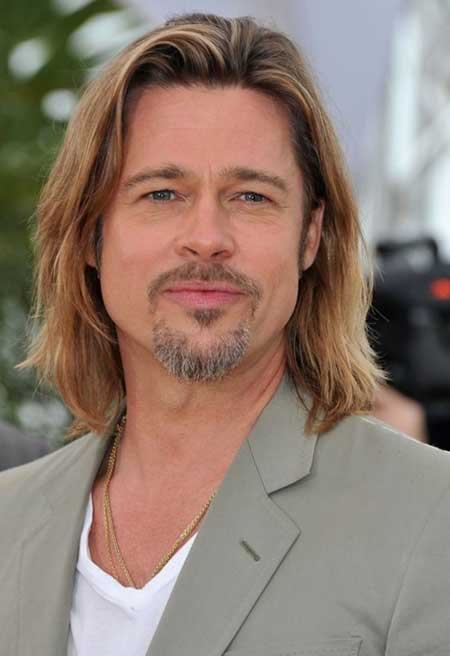 Brad Pitt long hairstyle