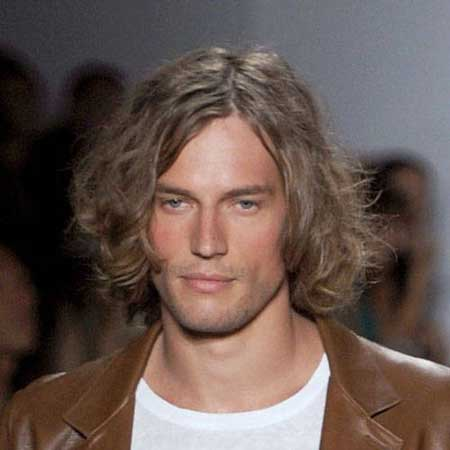 Long dark hairstyles for men