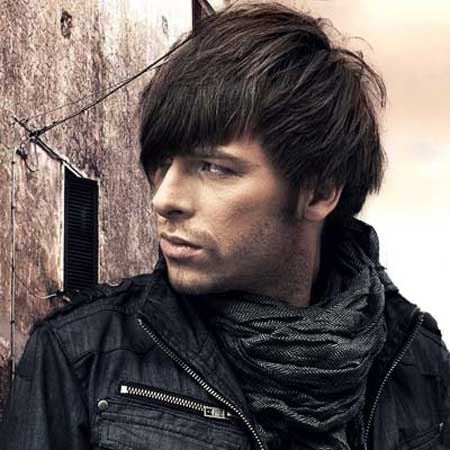 Men hairstyles long bangs