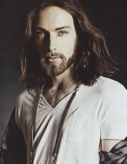 Mens long wavy hairstyles 2013