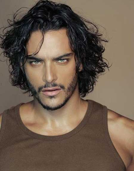 Mens haircuts for long wavy hair
