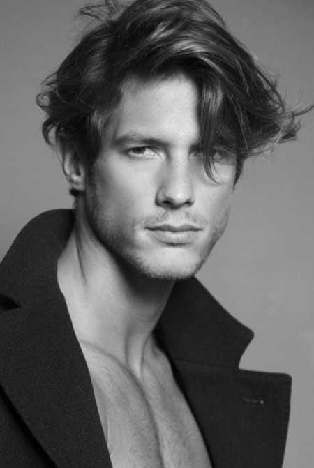 Messy Medium Hairstyle for Men
