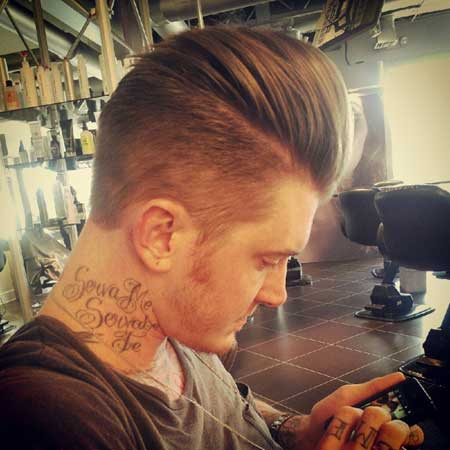 Pompadour for men short hair