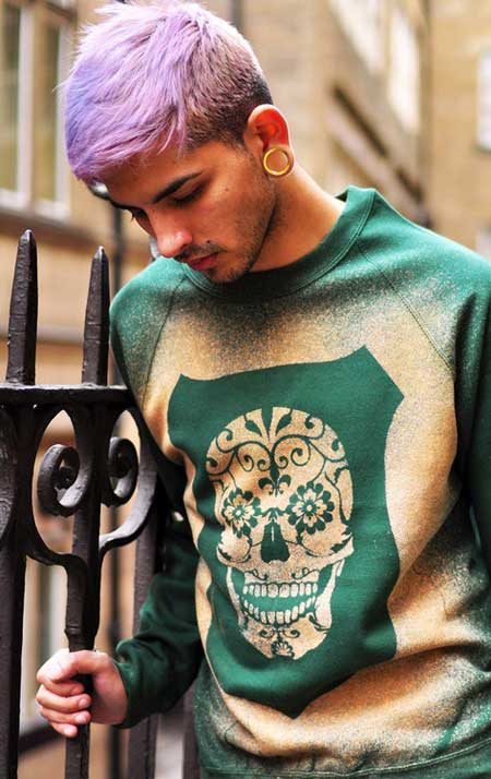 Purple hair styles for men