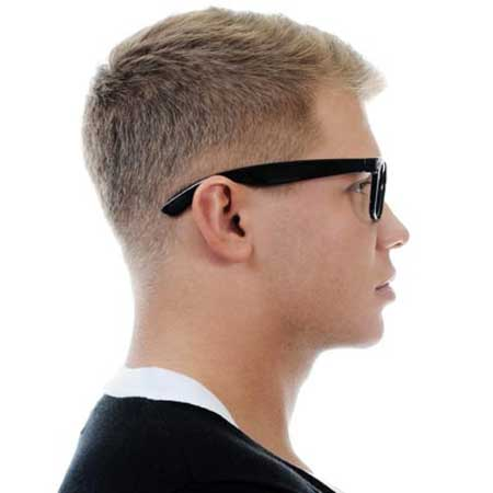 Short crew cut hairstyle