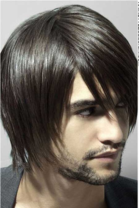 Straight long hair for men