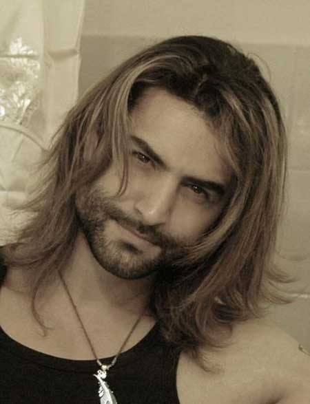 guy long hair style