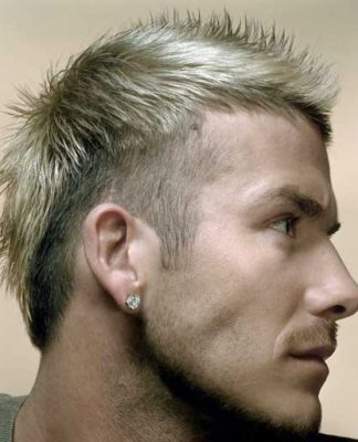 Short blonde spiky hairstyles
