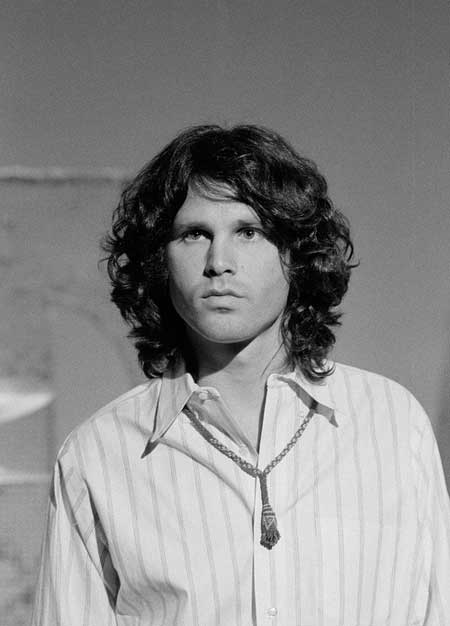 Jim Morrison long wavy hair