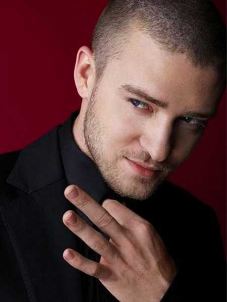Justin Timberlake very short hair
