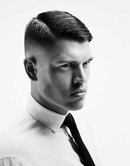 Men short hair side part