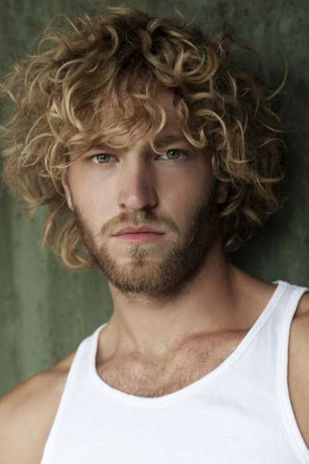 Mens blonde curly hairstyles