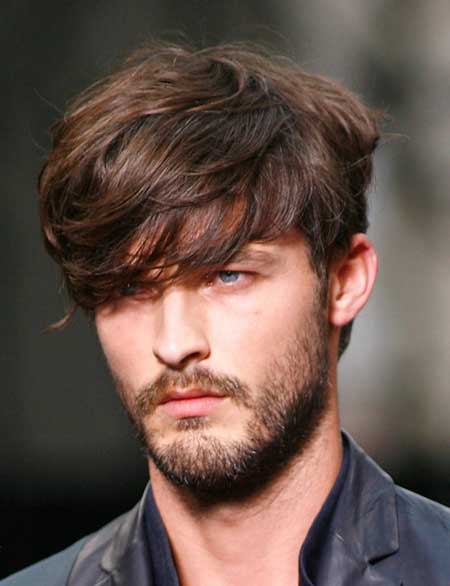 Men medium hair with bangs