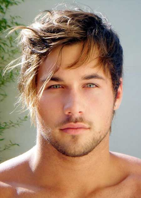 Hairstyles for men with bangs