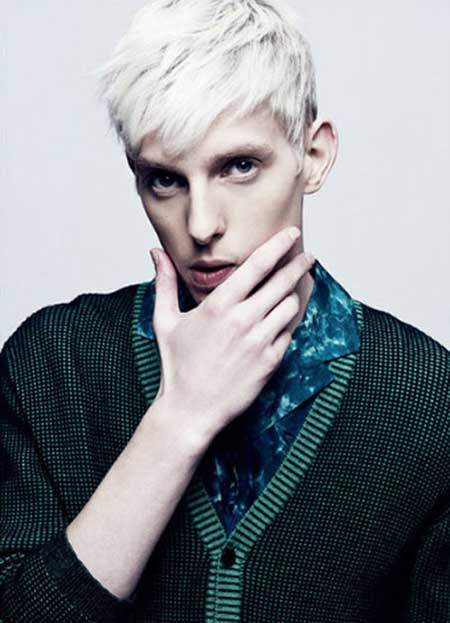Mens platinum blonde hair