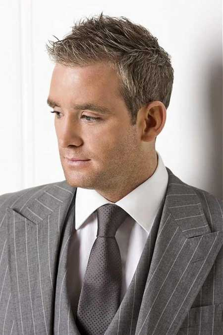 Mens short business hairstyle 2013