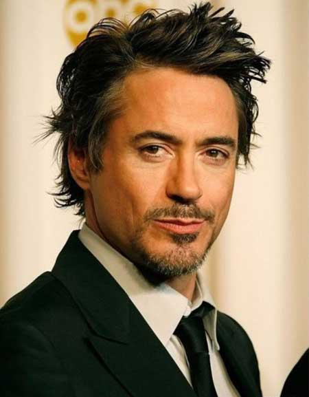 Robert Downey Jr hairstyle 2013