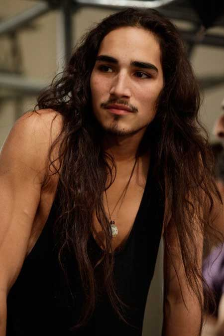 long hair on guy