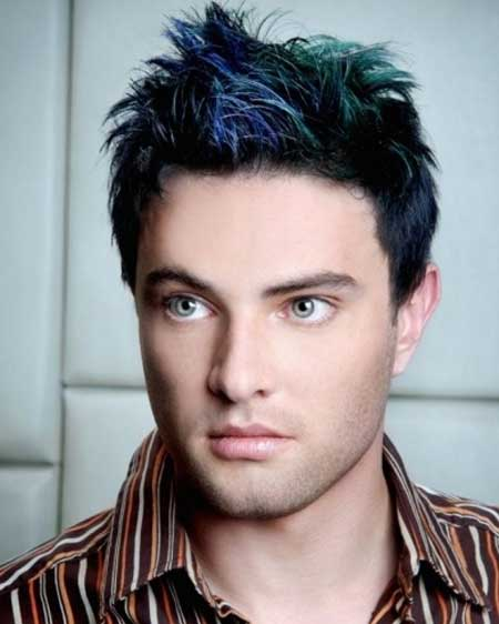 Color hair for men trend