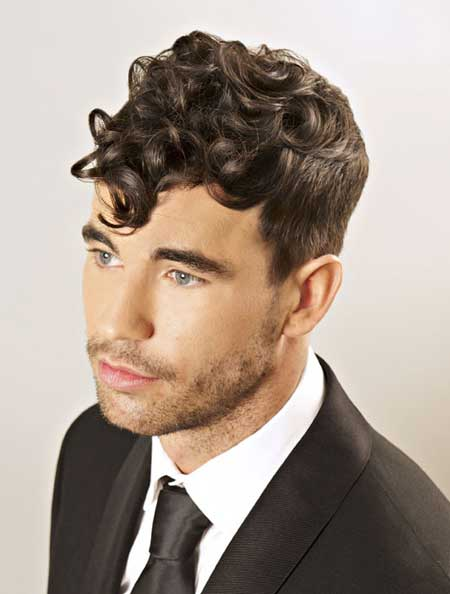 Cool haircuts for curly hair men 2013