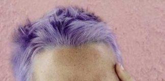 Men with lavender hair