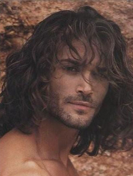 Messy hairstyles for men long hair