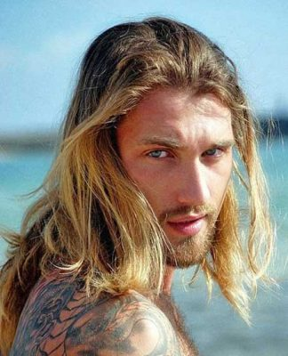 Mens long blonde hairstyles 2013