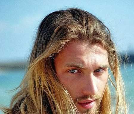 Mens long blonde hairstyles 2013