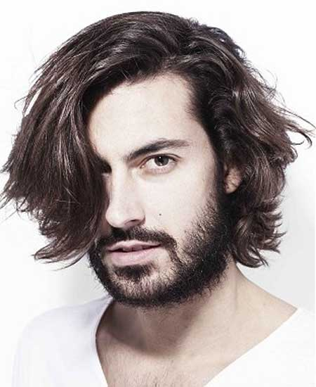 Messy wavy hairstyles men
