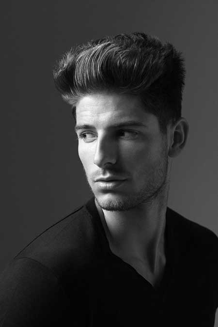 Cool Brushed up Hairstyle with Little Spikes