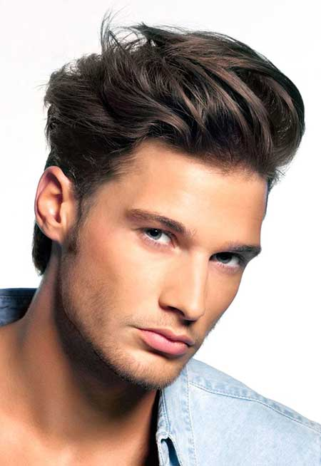 Cool Brushed up Medium Hairstyle