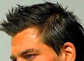 Masculine Hairstyle with Little Spikes