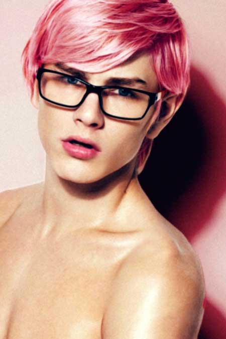 Men with Pink Hair