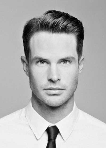 Short-bangs men's hairstyle