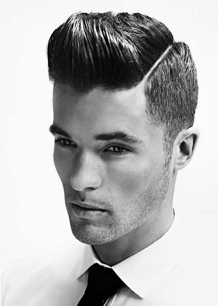 Perfect Slicked And Buzzed Hairstyle