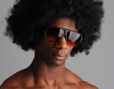 Cool Voluminous Afro-American Hairstyle