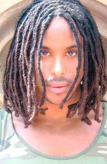 Natural Afro-American Hair With Dreadlocks