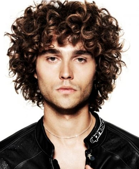 Cool Curly Hairstyles for Men Mens