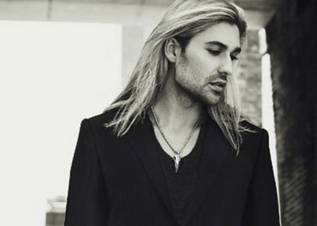 Wavy Blonde Hair Man Long Blonde Wavy Hair