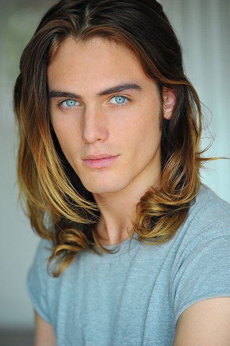 Male Models Long Hair Style | Free Printable Hairstyles