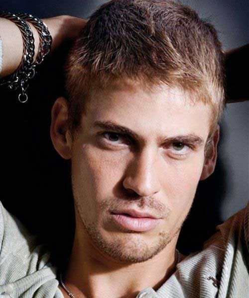 Short Blonde Messy Hairstyles for Men