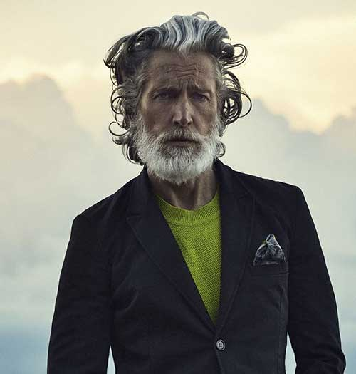 Swept Over Hair Style For Older Men