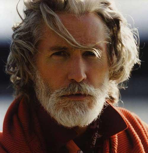 Side Swept Hairdo For Older Men:
