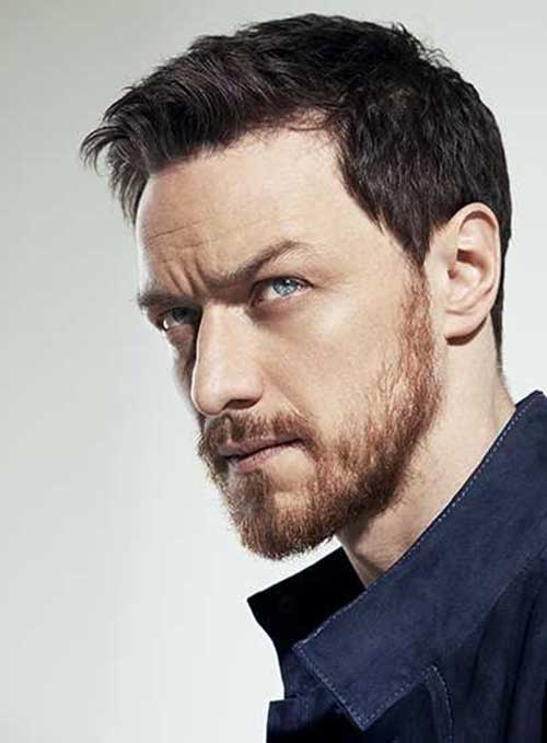 Dark Hair, Ginger Beard hair style
