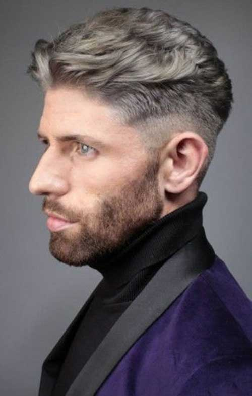 Trendy Short Hairstyle For Mature Men