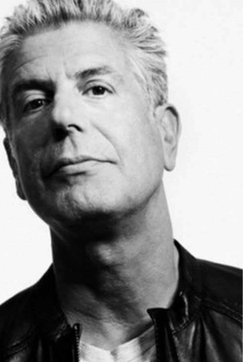 Anthony Bourdain Old Men Hairstyle